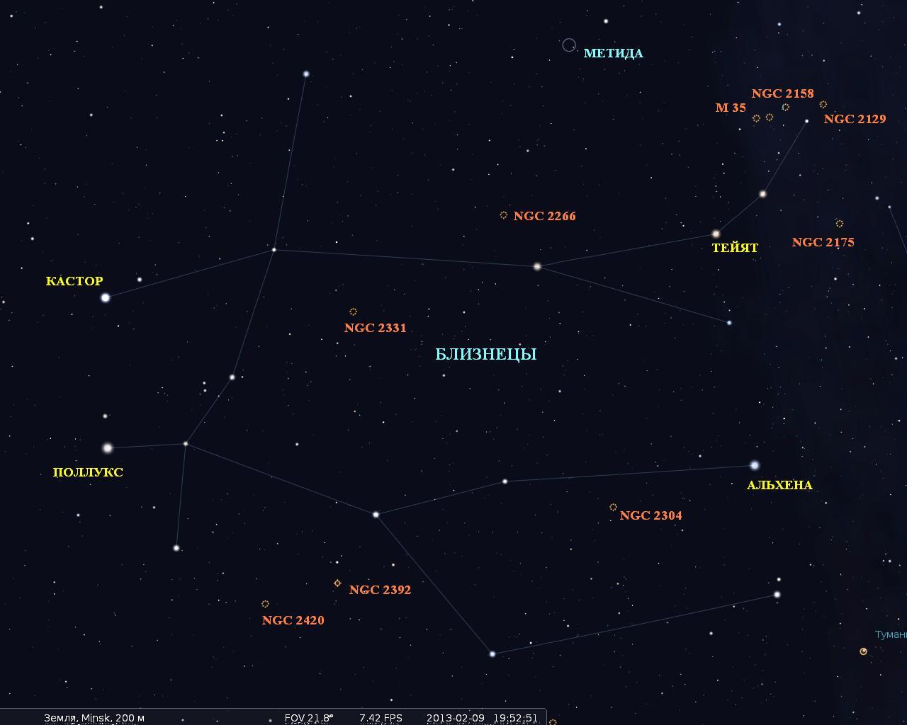 Близнецы (созвездие) — Википедия